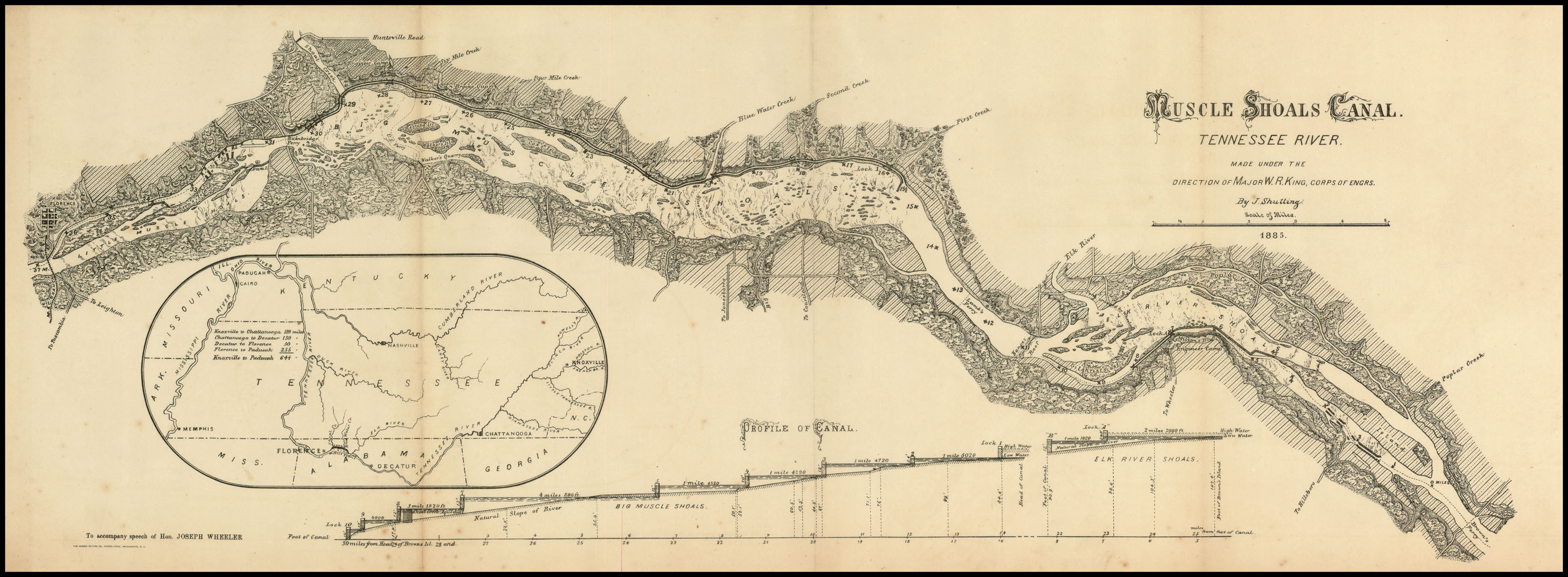 Muscle Shoals Canal  TRVA  Tennessee River Valley